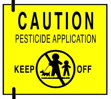pesticide sign pic
